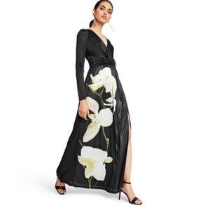 Altizarra for Target Black Orchid Satin Dress M